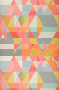 Zewana | Geometrical wallpaper | Wallpaper patterns | Wallpaper from the 70s