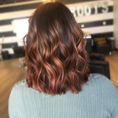 Deep Brown with a Mix of Rose