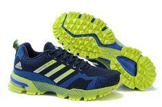 the latest b4926 a0024 Adidas Marathon TR 13 18 Flyknit Dark Blue Flash Lime