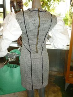 Back of knit dress