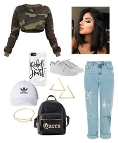 """""""💪🏻🖤"""" by aicha-13 on Polyvore featuring mode, Yves Saint Laurent, Casetify, Charlotte Russe en adidas"""