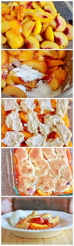The Yummiest Peach Cobbler Recipe Ingredients 2 pounds Ripe Peaches ¾ cups Sugar, Divided 1 Tablespoon Cornstarch ½ cups Butter, Softened 1 whole Egg ½ teaspoons Vanilla Extract 1 teaspoon Grated L…