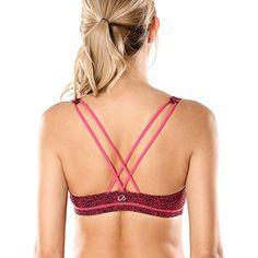 CRZ YOGA Women's Strappy Back Wirefree Padded Workout Yoga Sports Bra   #TeamSports