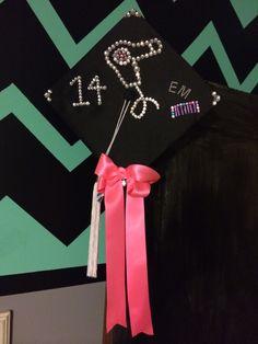 Cosmetology Graduation Cap decorated with rhinestones!!!