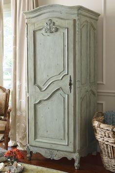 Fantine Linen Cabinet - Distressed Wood Linen Cabinet, 4 Shelf Linen Cabinet | Soft Surroundings