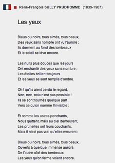 """""""Les yeux"""" - Sully Prudhomme"""