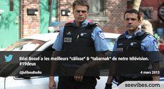 4 mars 2013: Les policiers préférés des québécois sacrent dans 19-2 et l'audience sociale aime ça, beaucoup de retweets hier soir sur le fil de Twitter - #Seevibes #TopRetweet #Twitter #19Deux - https://twitter.com/JulibouRadio/status/308760836258807808