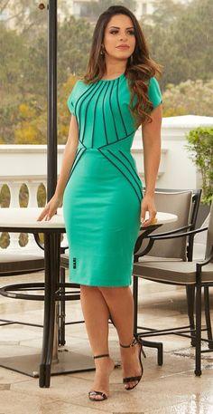 Pin by my info on dresses in 2019 vestidos, vestidos de moda, vestidos eleg Modest Dresses, Tight Dresses, Short Dresses, Dresses For Work, Formal Dresses, Classy Dress, Classy Outfits, Dress Outfits, Fashion Dresses