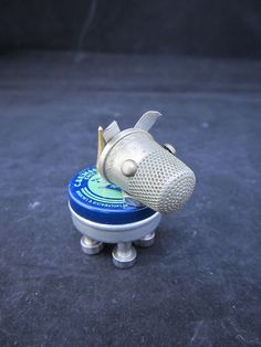 Watch Part Pup Bot  found object robot sculpture by ckudja on Etsy, $50.00