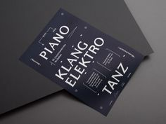PIANO — flyer and poster announcing a party playing minimal techno and organ concerts in an old church in st. by kasper-florio - designboom Graphic Design Tattoos, Graphic Design Studios, Graphic Design Posters, Typography Poster, Typography Design, Branding Design, Logo Design, Lettering, Minimal Techno