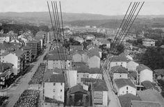 Las Arenas from Bizkaia Bridge (also known as Puente Colgante)