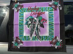 HARLEY-DAVIDSON ( AMERICAN SPIRIT ) BANDANNA EAGLE W/ INDIAN FEATHERS IN CLAWS
