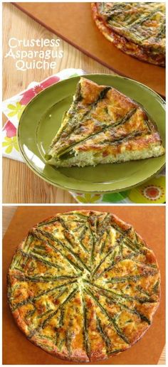 Crustless Asparagus Quiche with Ham