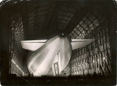 The Hindenburg in the Frankfurt shed, likely prior to departure via Todd Neitring