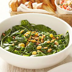 This classic Roman dish is slightly sweet with just a hint of salt. Add the buttery crunch of pine nuts, and it's a perfect side dish for your Italian Thanksgiving menu./