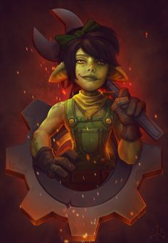 "azeroth-art-exchange: "" Wrixxa for http://bubblegum-virus.tumblr.com by http://conceptsparks.tumblr.com Badass little engineering goblin! Happy Winter Veil! "" Here is my piece in the Winter Veil art exchange. Losts of fun to do something that I..."