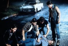 Poor Johnny, Dally, and Pony The Outsiders Ponyboy, The Outsiders 1983, 80s Movies, Good Movies, Movie Tv, Dallas Winston, Greaser Girl, Ralph Macchio, Matt Dillon