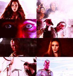 Wanda and Vision tumblr #scarletvision #scarletwitch #vision #Avengers