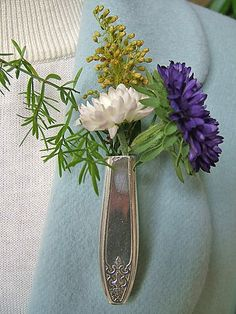 Lapel Vase  Tussie Mussie  created from Vintage by thefashionedge, $8.00 #teampinterest