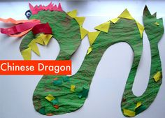 Toddler Craft - Paint & Paste Chinese Dragon Craft for Chinese New Year Chinese New Year Activities, Chinese New Year Crafts, New Years Activities, Holiday Activities, Respect Activities, New Year's Crafts, Holiday Crafts, Crafts For Kids, Holiday Ideas