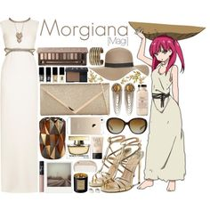 Morgiana [Magi] by anggieputeri on Polyvore featuring Gucci, Paul Andrew, Call it SPRING, Maison Margiela, DANNIJO, Lonna & Lilly, Coach, Topshop, NARS Cosmetics and Urban Decay