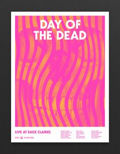 "The talented team from New York-based studio The Collected Works created this powerful identity and packaging design for ""Day of the Dead"", an epic tribute to the music and artistry of the Grateful Dead, curated by Aaron and Bryce Dessner of The National.   ""Similarly to the music, the design is a modern reinterpretation of the Dead's iconography, lyrics and related imagery. Throughout the design system we use a combination of oil and water textures (referencing Joshua Light Sh..."