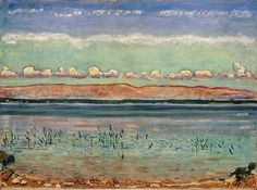 Ferdinand Hodler - Genfersee with the Jura and a chain of clouds, 1911, Kunstmuseum, Basel.