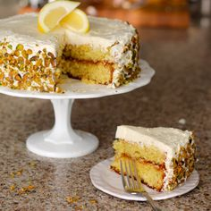 Lemon Cake with Swiss Meringue Frosting | Because Food is Life
