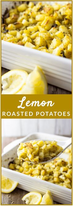 Roasted potatoes with tangy lemon juice, sliced garlic, and fresh basil: easiest recipe ever and the best oven potatoes you'll ever eat. This works great as a side dish for holiday get-togethers or if you just want to chow down on some tender-crisp potatoes. That's me, any day.