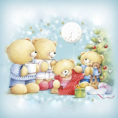 ♥ Forever Friends ♥ Christmas Scenes, Christmas Wishes, Christmas Pictures, Christmas Greetings, Christmas Morning, Wallpaper Natal, Fizzy Moon, Hello Kitty Christmas, Friend Cartoon