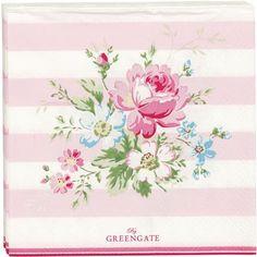 GreenGate Paper Napkin - Marie Pale Pink Small 20 pcs