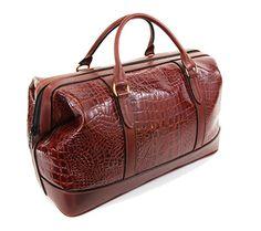 Our Brown Croc #leather #weekendbag #bag