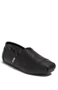 TOMS Perforated Leather Slip-On (Men) available at #Nordstrom