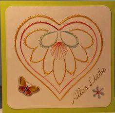 Fadengrafik Karte Herzen 1 Valentinstag Muttertag von Rene´s Fadengrafiken auf DaWanda.com