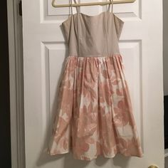 🌸🌼 Floral Dress 👗 Nude/cream top attached to a rose and cream floral skirt make this the dress you need for Spring! Perfectly neutral! Never been worn, however, tags were taken off.  Soft pink and nude colors make this dress perfect for engagement photos or any special occasion. Make an offer today! H&M Dresses
