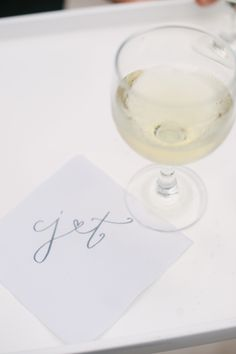 Signature cocktail napkins