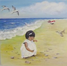 The beachcomber - acrylic on canvas by Sasha Taylor, Art-Seekers.com