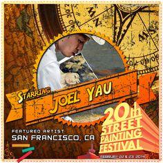 Joel Yau  http://streetpaintingfestivalinc.org/index.php/artists/featured-artists/44-joel-yau