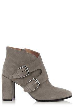 Warehouse grey buckle boots