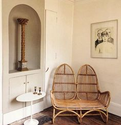 Love this vintage cane chair