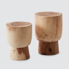 Minimal Wood Stump Stools | Handcrafted Furniture from The Citizenry