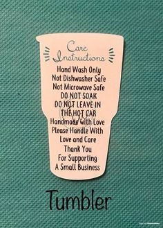 Vinyl Shirt Washing Instructions Printable