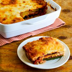 Kalyn's Kitchen®: Grilled Zucchini Low-Carb Lasagna with Italian Sausage, Tomato, and Basil Sauce