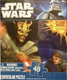 "Star Wars 48 piece 3D Lenticular Puzzle SAVAGE OPRESS Sith Lord 9"" x 6"" (Lightsaber Duel Anakin Skywalker Obi-Wan Kenobi Count Dooku!) Star Wars http://www.amazon.com/dp/B005PMSAZU/ref=cm_sw_r_pi_dp_DnCOtb1X1M9S6N48"