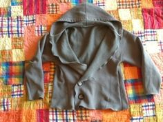 Oversized sweatshirt refashioned/upcycled into a cute hoodie!  20121113-181751.jpg