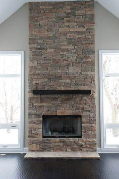 DIY fireplace on Pinterest   Fireplace Makeovers  Modern Fireplaces
