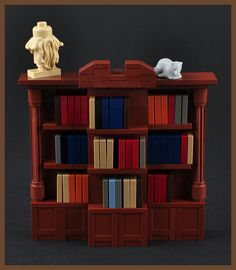 The Bookcase (H. Lovecraft's Study) - Lego -