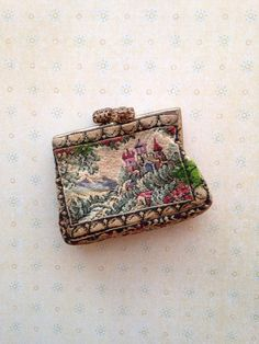 antique purse for a French fashion doll