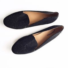 J. Crew Black Studded Loafers Factory. Excellent pre-loved condition with no rips or stains. First picture filtered. No trades or PayPal please don't ask. J. Crew Shoes Flats & Loafers