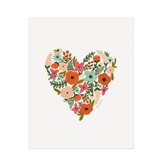 Print - Floral Heart - Rifle Paper Co #willowandstone